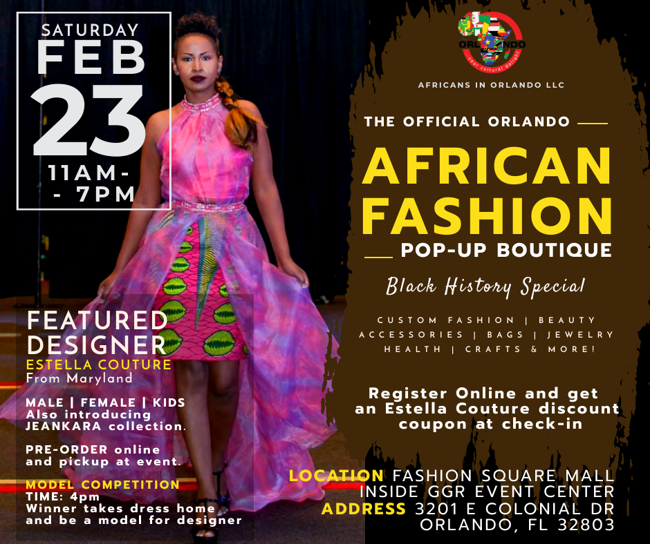 Orlando African Fashion Popup Boutique Black History Edition Best Life Babe